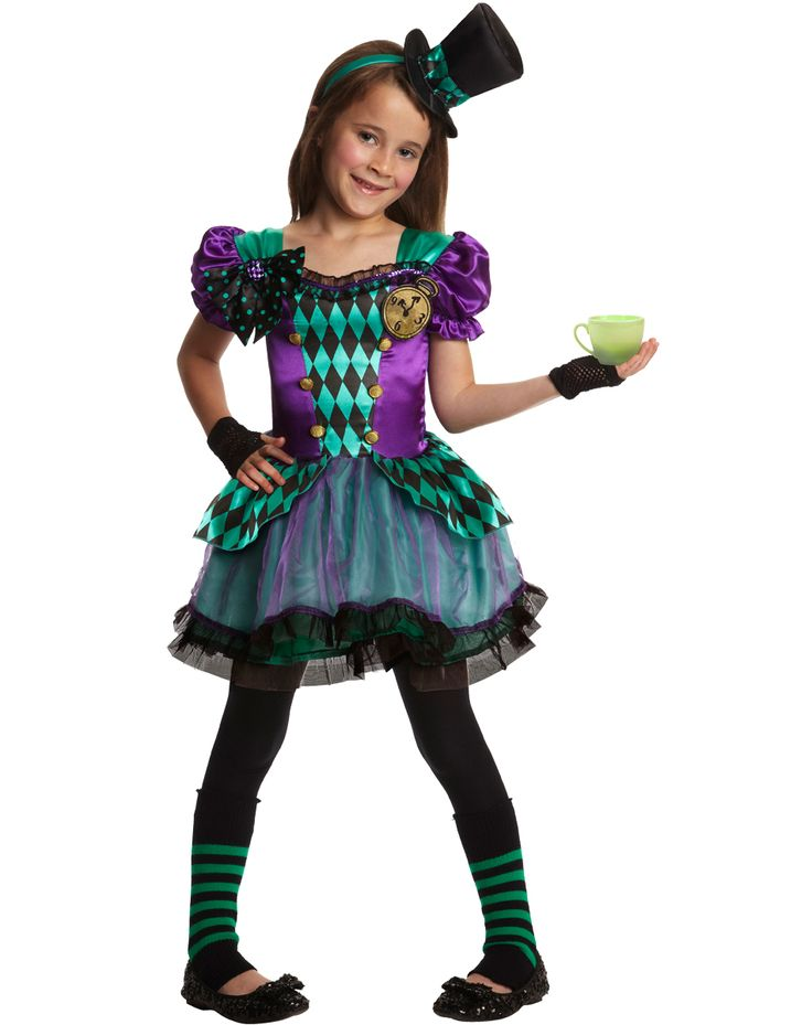 Madeline hatter costume monster high ever after high pinterest satin halloween and little - Costume halloween fille ...