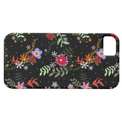 Layer for cellular Folk Embroidering iPhone SE/5/5s Case - flowers floral flower design unique style