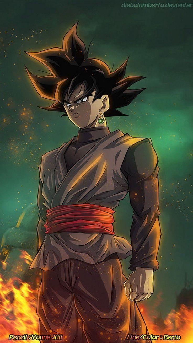 Goku Black Rose Wallpaper HD 4k in 2020 Goku wallpaper
