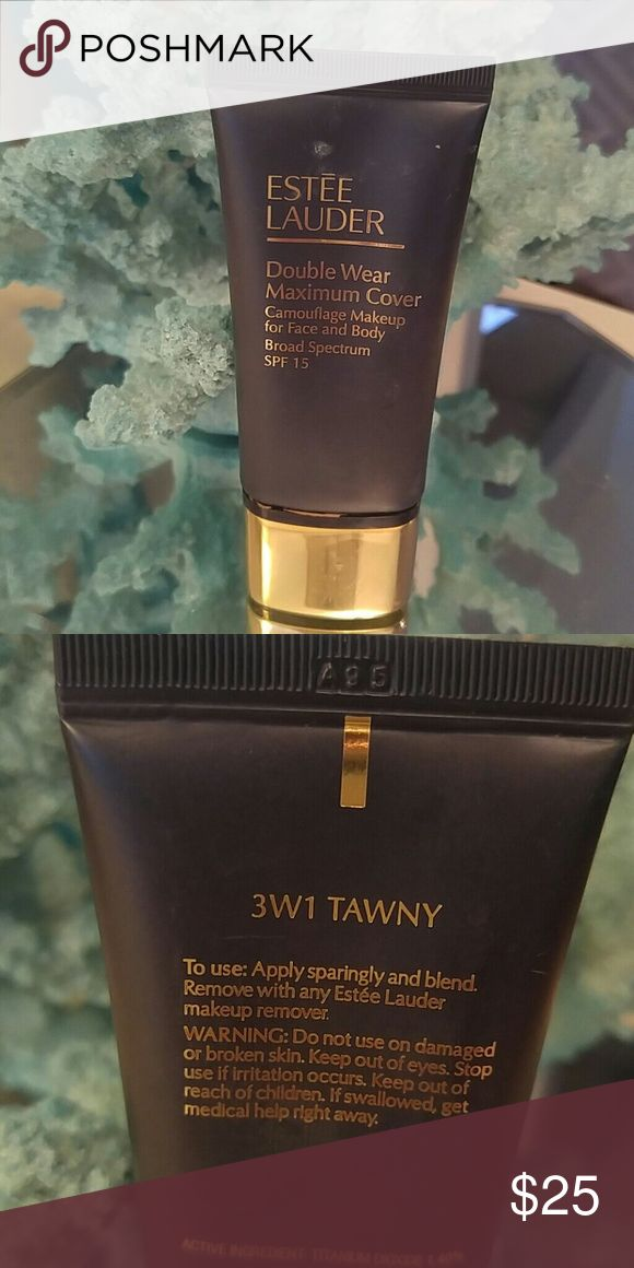 Estee Lauder Double Wear Maximum Camouflage Makeup Double Wear maximum cover camouflage makeup in the shade 3W1 Tawny.  This foundation is a full coverage makeup that can also be used as a concealer.  Only used a few times and was the wrong shade for me. Estee Lauder Makeup Foundation