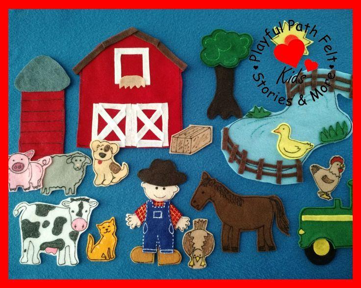 Old McDonald Had a Farm, EIEIO Felt Board Story Set by PlayfulPathFelts on Etsy