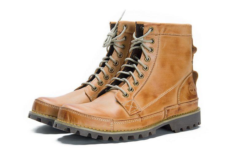 Barato Timberland Hombres Botas - Timberland 8 pulgadas botas amarillas