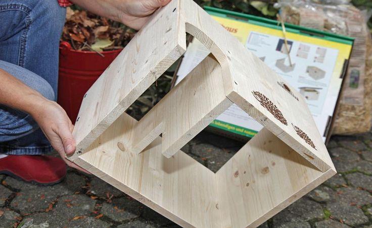 winterquartier f r igel igelhaus bauen g rtnergl ck pinterest igel berwintern igelhaus. Black Bedroom Furniture Sets. Home Design Ideas