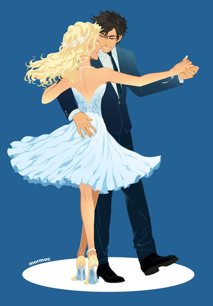 spring hiatus : Photo Percabeth art titled Let's Dance. Percy Jackson and Annabeth Chase