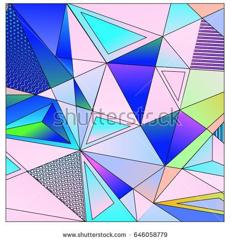 Vector of triangle geometric 3d forms. Modern info banner abstract backgrounds for poster, message presentations or identity layouts.