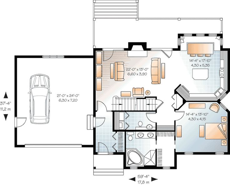 123 best house plans images on pinterest | small house plans