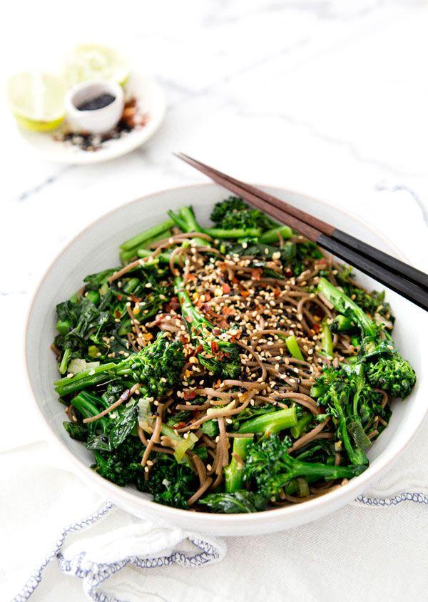 Rapini Noodle Bowl by ahouseinthehills #Noodles #Rapini #Healthy