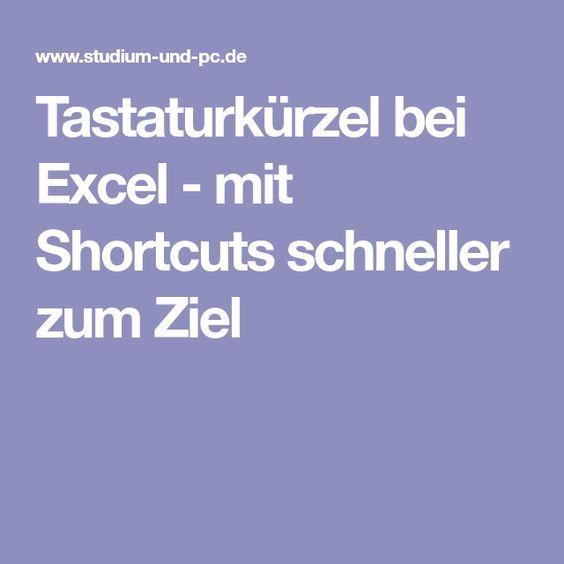 Tastaturkürzel bei Excel – mit Shortcuts schneller zum Ziel – Marek Maciejewski