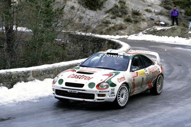 1995 MONTE CARLO RALLY - Toyota Celica GT-Four (ST205). Entrant: Toyota Castrol Team. Drivers: Juha Kankkunen / Nicky Grist. Place: 3rd o/a.