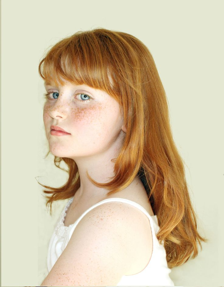 This is how I looked when I was younger but with blondish brown lashes and eyebrows. A complete English looking lass with red hair and freckles. Hated it then and wish I appreciated it more now.