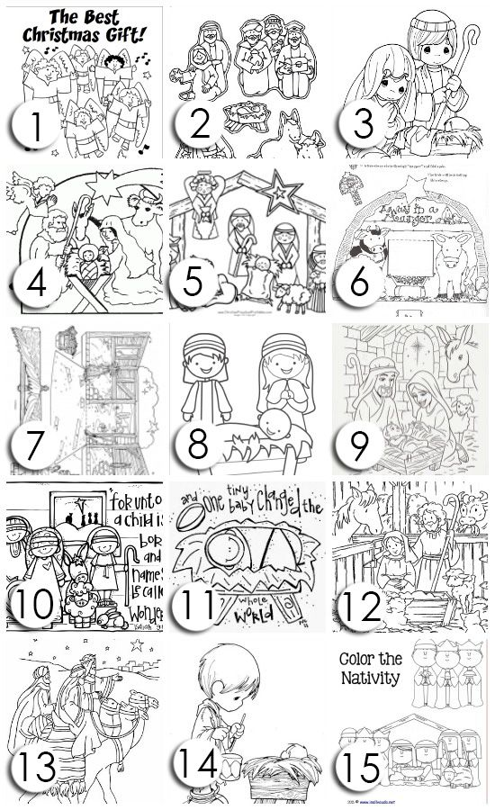 Free Christ-Centered Christmas Coloring Pages!