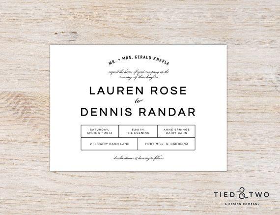 Bold Modern Invitation Suite | DIY Printable PDF or Handmade, Modern Invitation, Simple Modern Wedding Invitation, Minimalist Design