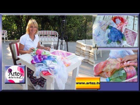 Ideas para pintar tus pareos y pañuelos - YouTube