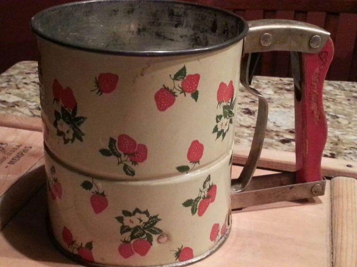 Details About Vtg 1950s Androck Hand I Sift 3 Screen Flour