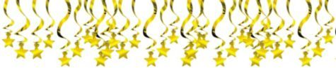 Gold Star Swirl Decorations 30ct - Party City