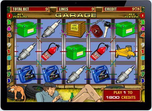 Игровой автомат Garage на деньги рубли.  Настоящим автолюбителям, а также поклонникам ремонтов и разборок автомобилей, компания-разработчик Igrosoft представляет игровой автомат Garage, который дает шанс игратьвказино онлайнна деньги рубли. Это доступно с помощью ши