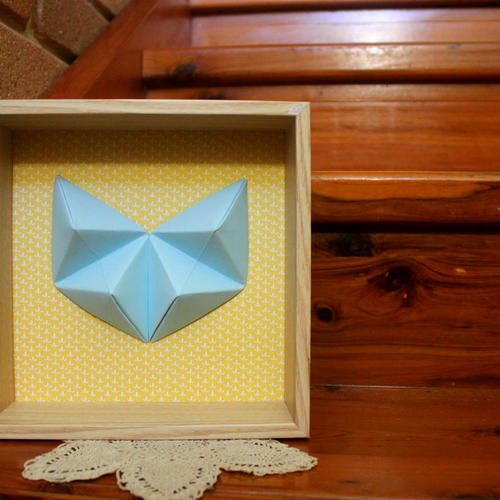 Handmade Geometric Heart set in a deep wooden frame