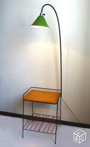 Lampadaire table scoubidou meuble vintage 1960 Décoration Paris - leboncoin.fr
