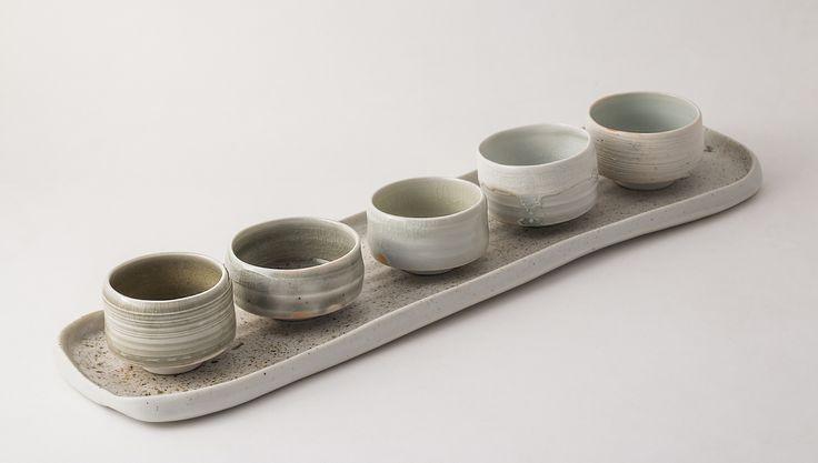 Plate and sake cups by Tünde Ruzicska http://www.magma.hu/muveszek.php?id=71