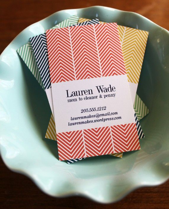 herringbone business card. interesting if we could get our collaterals to look like fabric. #pattern #fabric