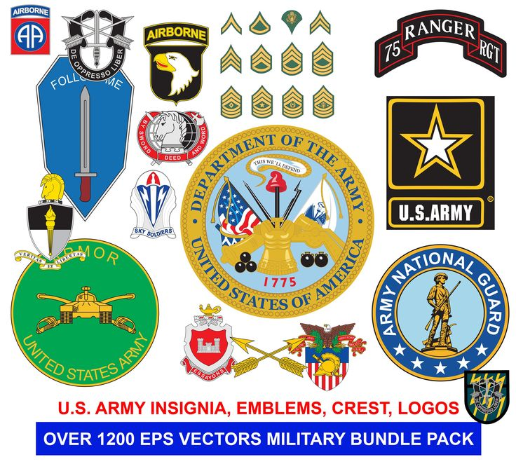 Over **1200** United States Army Emblems, Insignia