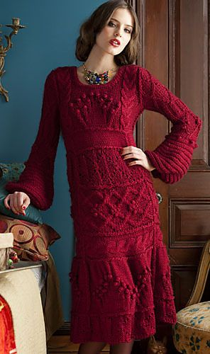 #07 Textured Dress pattern by Natalya Ovseyenko http://www.ravelry.com/projects/caruba/07-textured-dress (errata)