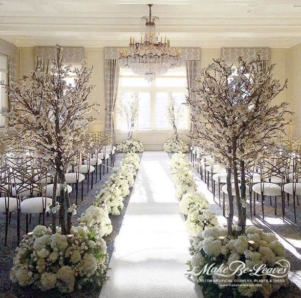 Faux White Cherry Blossom Trees Blossom Tree Wedding White Blossom Tree Wedding Tree Decorations