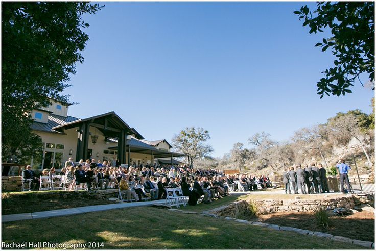 Beautiful outdoor ceremony site at The Lodge at Bridal Veil Falls, Spring Branch TX