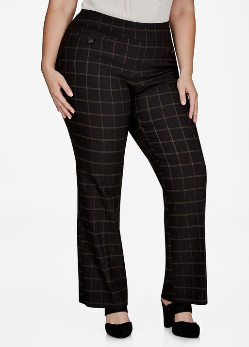 74584f52fa6 Fashion Bug Plaid Bootcut Pant  FashionBug  PlusSize  Pants  www.fashionbug.us