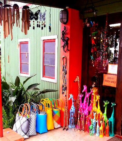 Colourful wears outside KwaziSwazi shop at Living in Africa at Ezulwini Valley Swaziland