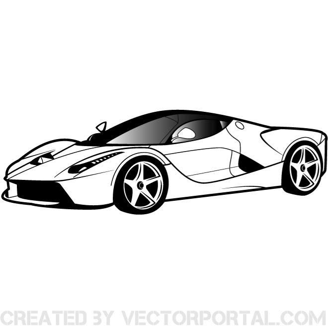 Luxury Car Vector Clip Art.