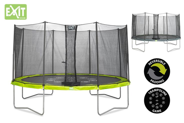 Trampoline Reversible Vert Et Gris Twist 12 au meilleur prix! - LeKingStore