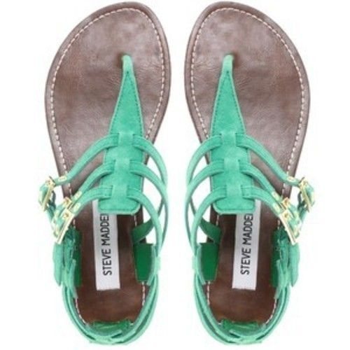 teal summer sandals: Mint Green, Summer Sandals, Madden Sandals, Fashion Flats, Summer Shoes, Steve Madden, Green Sandals, Flats Sandals, Cute Sandals