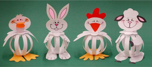 Húsvéti papírfigurák - Húsvéti munkadarab ötletek