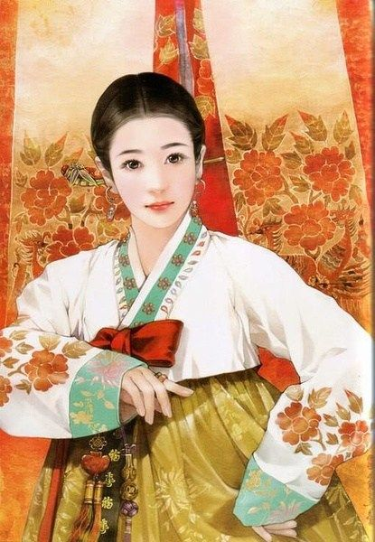 china ethnic korean women dress and accessory