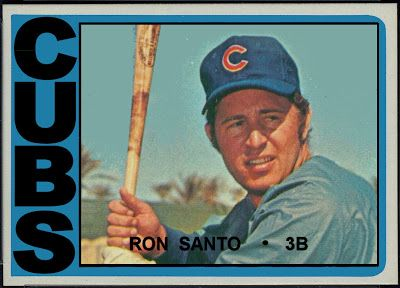 1972 Topps Football, Ron Santo, Chicago Cubs, Baseball Cards That Never Were