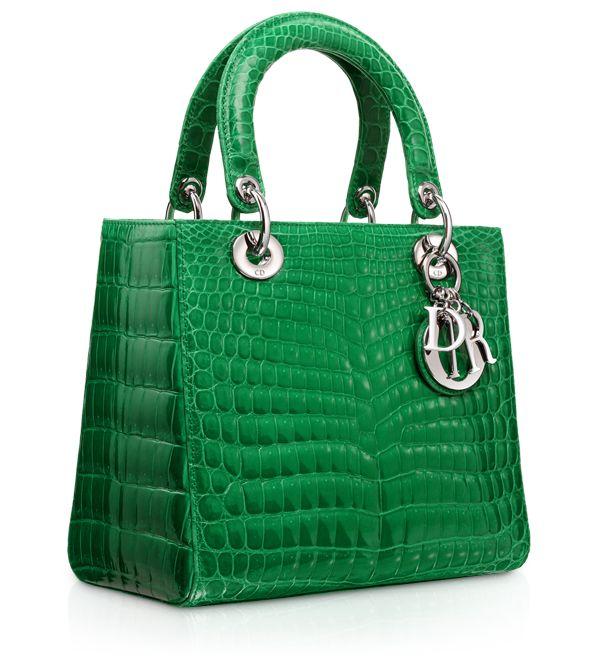 Dior Green handbag.  Oh my!  (a woman can dream, can't she)??
