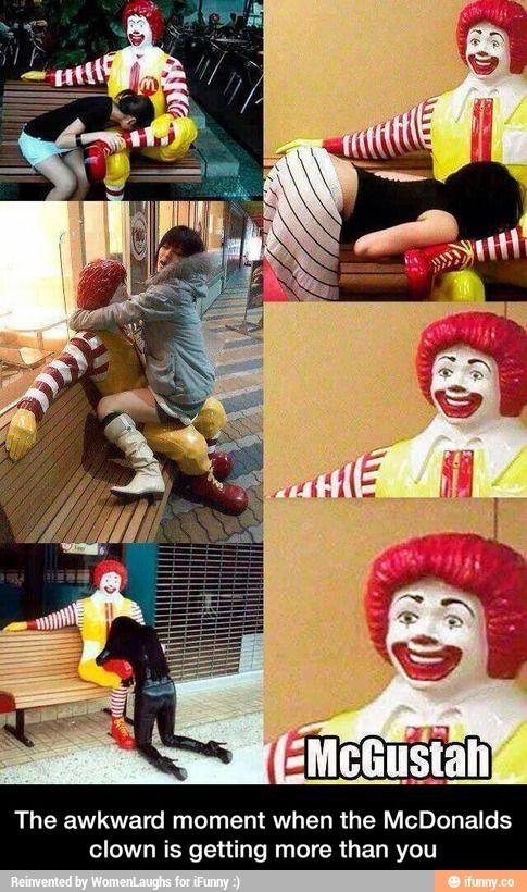 Ronald McDonald gets lucky!
