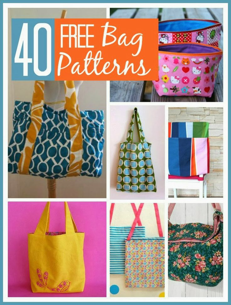 40 beautiful free bag patterns that even a complete beginners will love @Mums make lists ... #sewing #patterns #craft