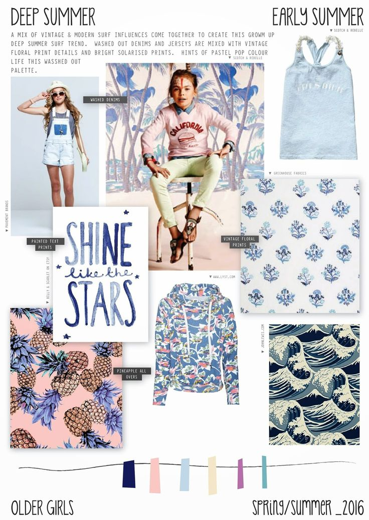 Spring/Summer 2016 - Older Girls Fashion - Deep Summer - Surf Trend