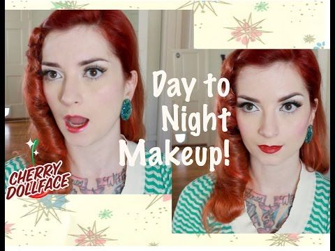 Vintage Makeup Tutorial: Easy Day to Night! CHERRY DOLLFACE - YouTube