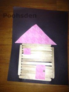 Log cabin #toddler #craft from Poohsden