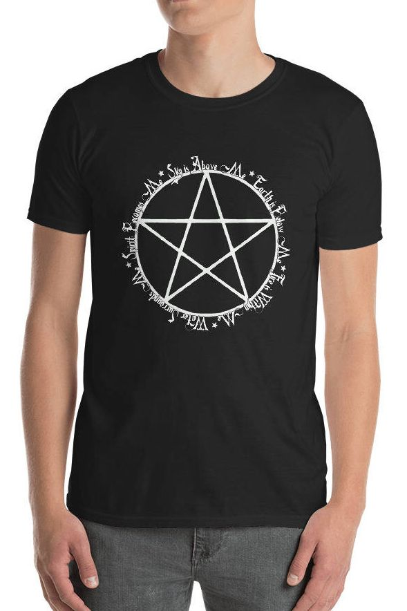 Triple Moon Tees - Find this Pentagram Pagan shirt  celebrating the 5 elements in my Etsy Shop!   Pagan Beliefs   Pentagram meaning   Wicca for Beginners   Pagan Hoodie   Pentagram Art   Occult Art   Pagan Shop   #pagan #wiccan  #Pentagram #5Elements