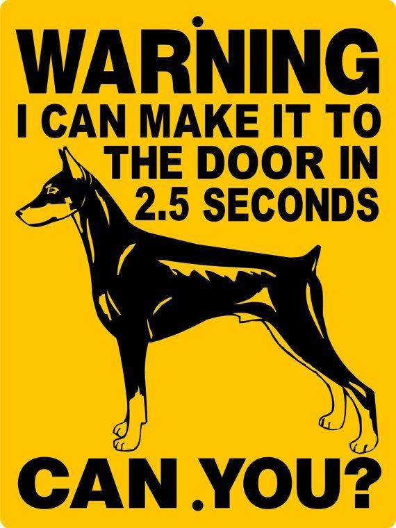 Doberman Pinscher Dog Sign 9x12 ALUMINUM 2827D door animalzrule