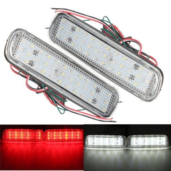 Pair Rear Bumper Reflector LED Brake Tail Turn Signal Light Fog Lamp For Lexus LX470