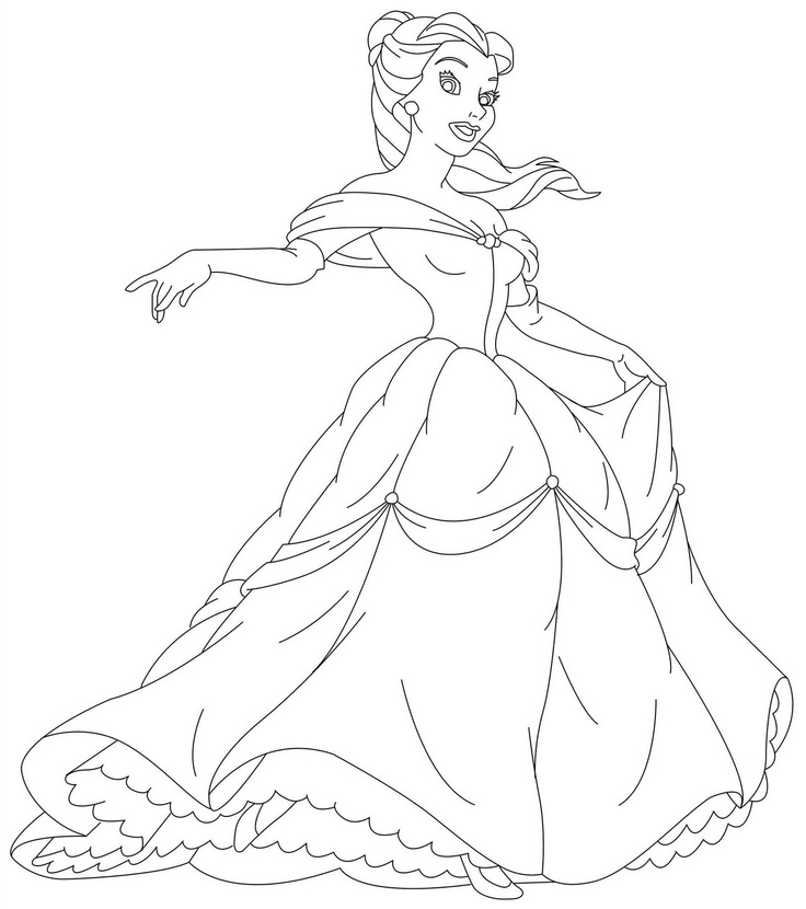 119 Best Disney Princess Coloring Images