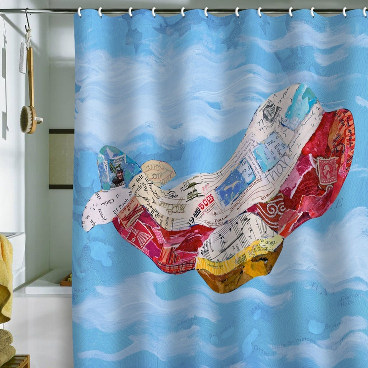 Elizabeth St Hilaire Nelson Airplane Shower Curtain Curtains Printed Shower Curtain