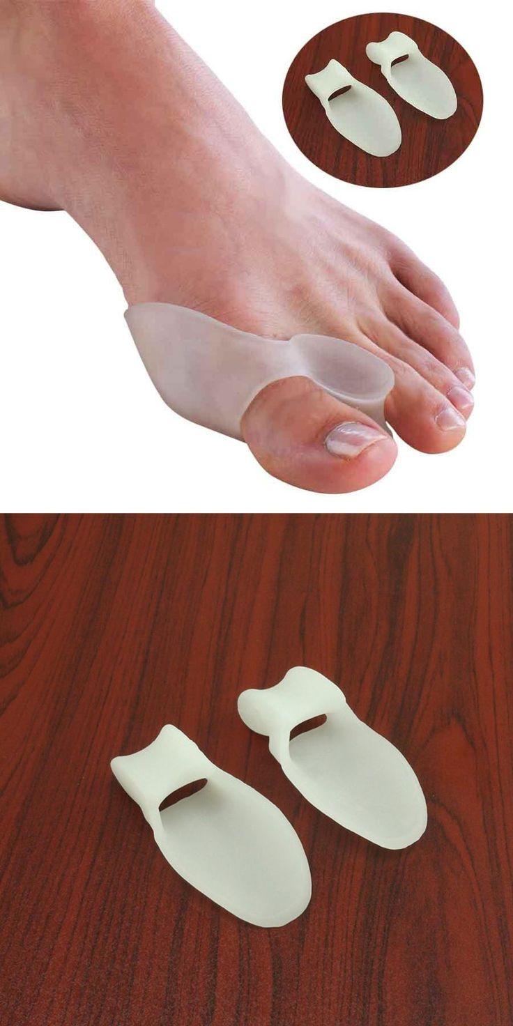 [Visit to Buy] 2Pcs Silicone Gel Bunion Splint Big Toe Separator Overlapping Spreader Protection Corrector Hallux Valgus Foot Massager C147 #Advertisement
