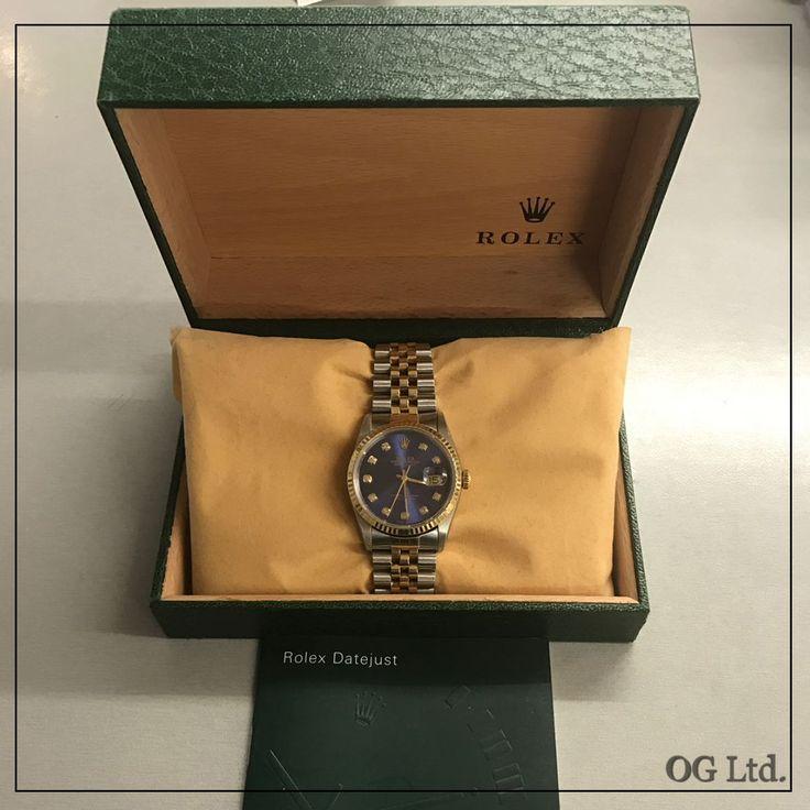 Rolex Datejust 36mm Two Tone Vintage Blue Diamond Dial. Every #watch has a story. Let's make you memorable story with us. #rolex #uk #datejust #twotone #vintage #vinatgelover #blue #diamonds #diamonddial #mensfashion #menaccesories #rolexlover #antiquedealerofinstagram #style #fashion #trending #trend #الكويت #اومان #سعوديه #خليج #مسقط #عرب #rolexholics #watchesofinstagram #watches #watchholic