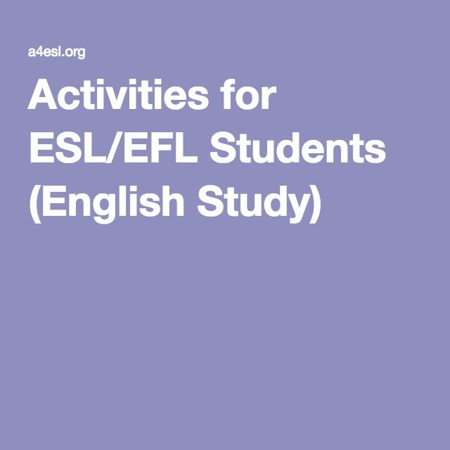 Activities for ESL/EFL Students (English Study)